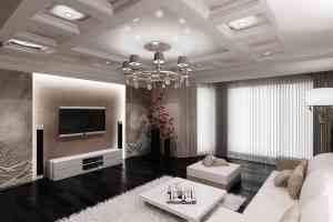 Современный дизайн зала фото